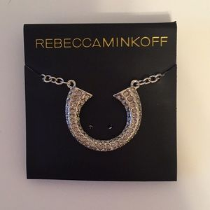 Rebecca Minkoff silver horseshoe necklace